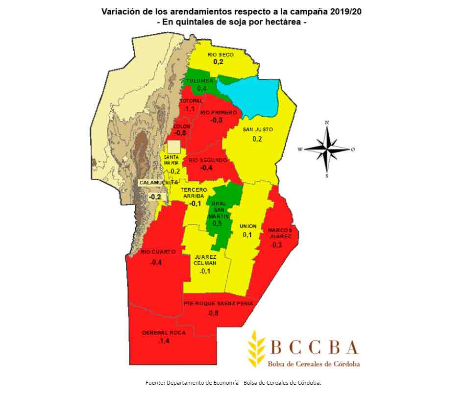 Primera estimación de arrendamientos agrícolas en Córdoba para la campaña 2020/21